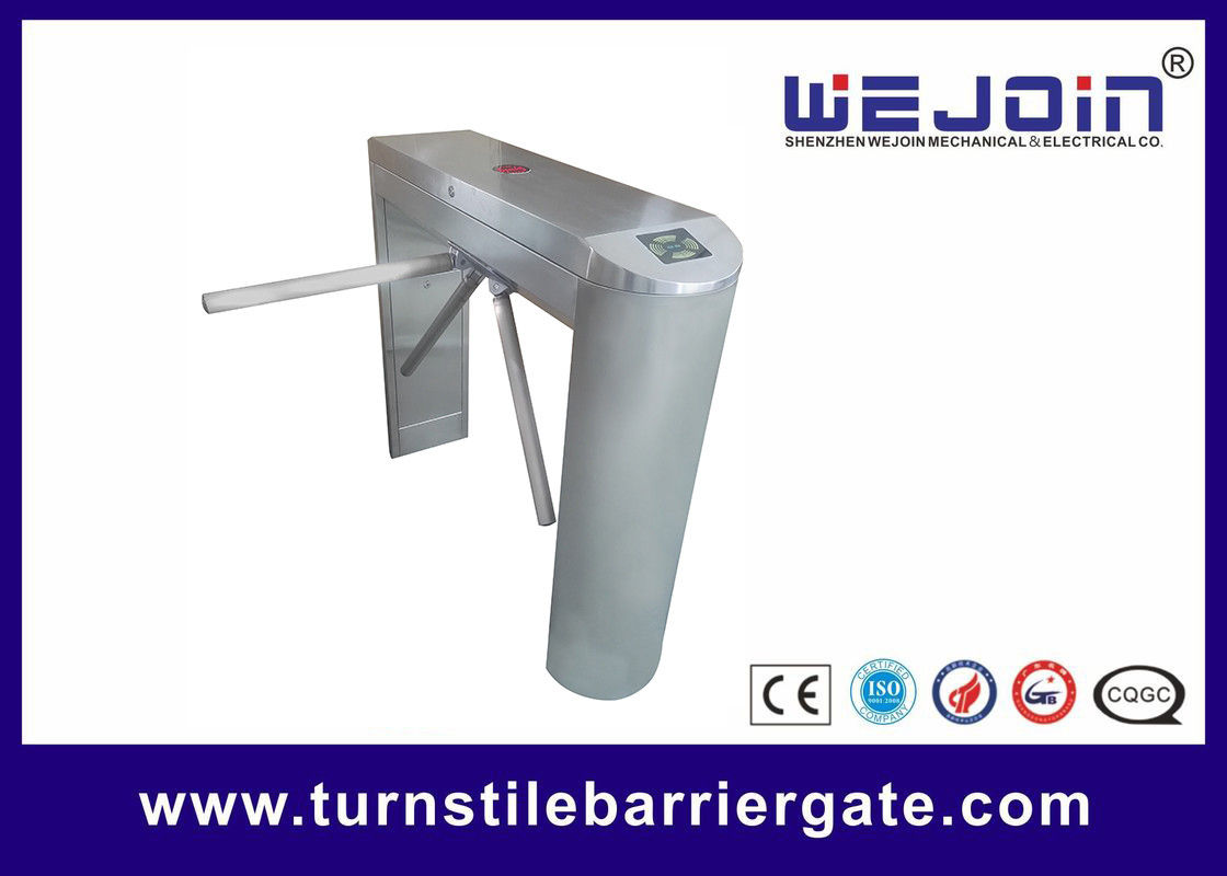 Waist High Rfid Turnstile Barrier Gate , Access Control Motorized Tripod Access System