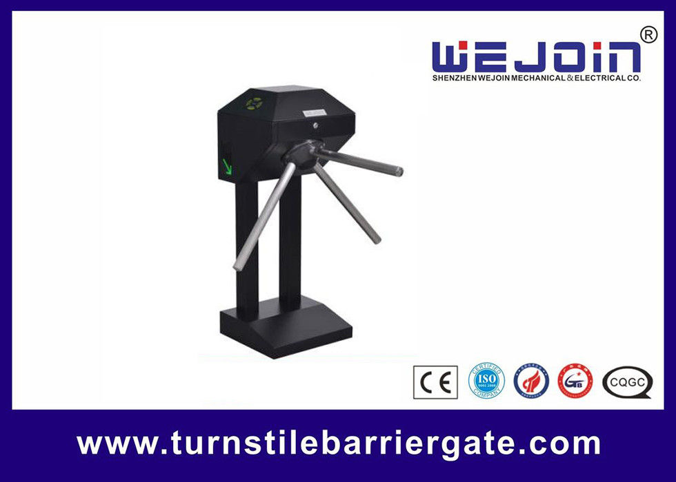 Black  Semi-auto Vertical - type Tripod Turnstile サプライヤー