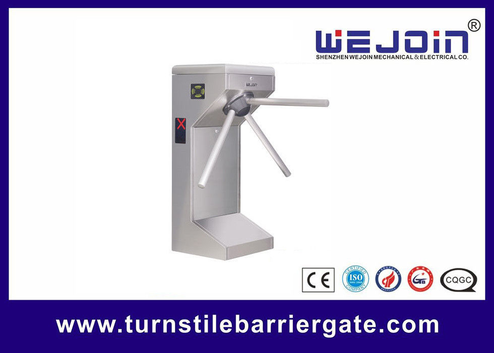 Full Automatic Counter Tripod Turnstile Gates , Pedestrian Security Gate DC 12V