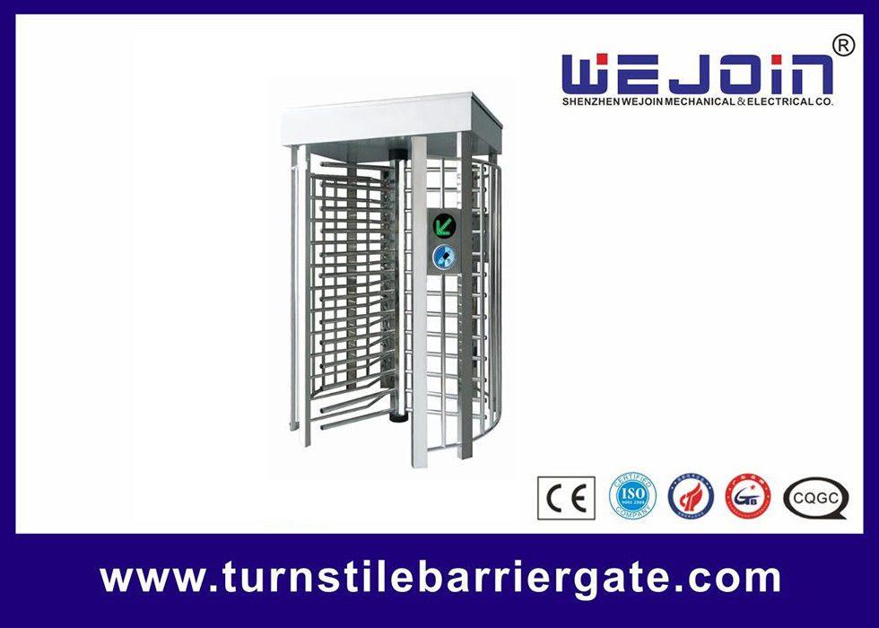 Pedestrian Full Height Access Control Turnstile Gate Digital Transmission With PC Control