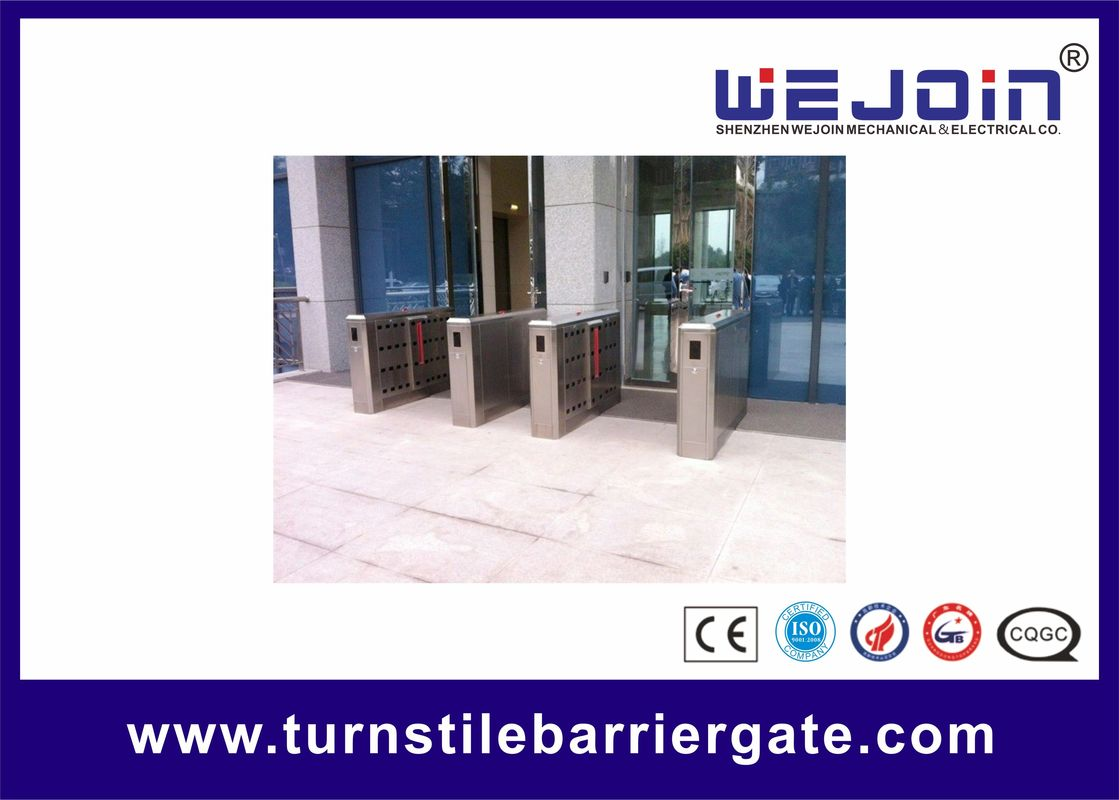 110V Stainless Steel Full-automatical Flap Barrier Gate With Auti-collision function サプライヤー