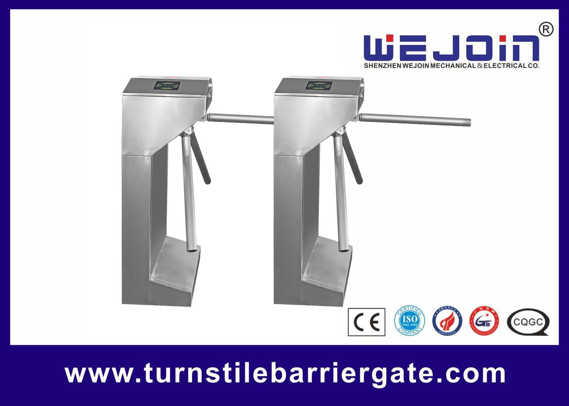Security Control Tripod Turnstile Gate , Turnstile Entry Systems 1 Year Warranty