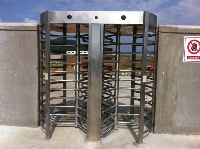 Swipe Card Full height Access Control Turnstile Gate Safety System 50HZ / 60HZ 0